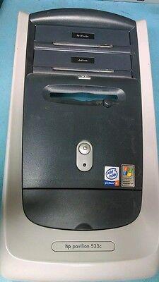 HP Pavilion 533C 7905 7955 Front Panel Case Faceplate Bezel w/ Button 5042-6630