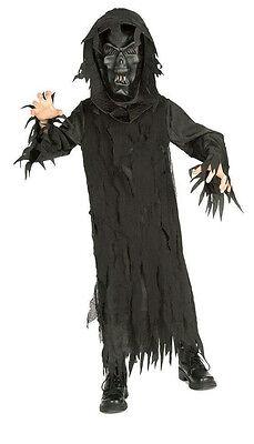 Rubie's Boy's Skeleton Lord Black Hooded Robe and Mask Child Costume Medium