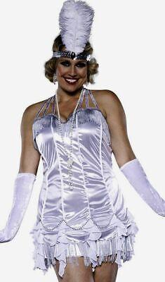 METALLIC FLAPPER DRESS Halloween Costume ROARING 20s PIN-UP 2x 18 PLUS SIZE - Flapper Halloween Costume Plus Size