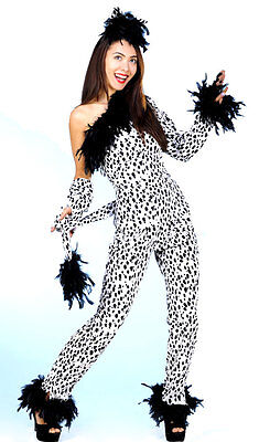 LADIES SPOTTY CRUELLA DEVILLE COSTUME VERY SILLY FANCY DRESS HALLOWEEN OUTFIT](Silly Halloween Costumes)