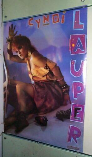 CYNDI LAUPER Vintage 1984 Poster LAST ONE