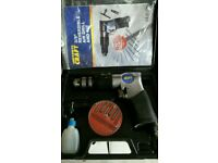 "POWER CRAFT COMPRESSED AIR 1/2"" REVERSIBLE AIR RATCHET KIT & 3/8 reversible air drill Set Both used"