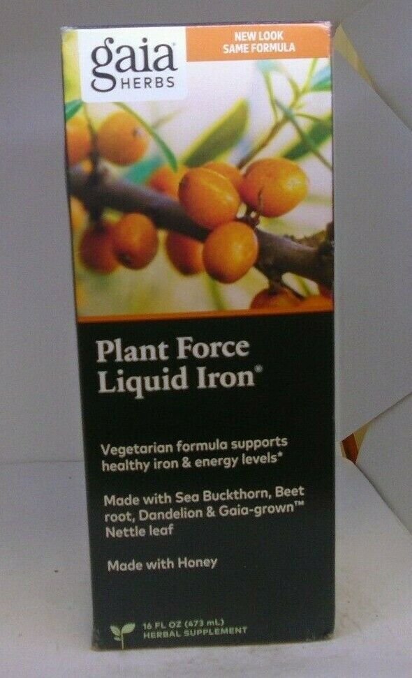Gaia Herbs PlantForce Liquid Iron 16 fl oz 473 ml Organic, Vegetarian