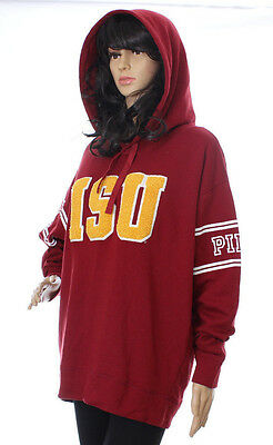 Victoria Secret Pink Collegiate Collection Pullover Sweatshirt Hooded ISU Large