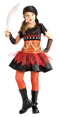 Gold Coast Pirate Black Red Wench Girl Dress Up Halloween Tween Teen Costume