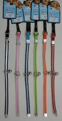 """12 BRAND NEW 12""""  REFLECTIVE DOG COLLARS W/BELLS, COLORS WILL VARY"""