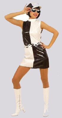 Kostüm  Fasching Damen 60er Jahre futuristisches Kleid und Mütze  Gr. S