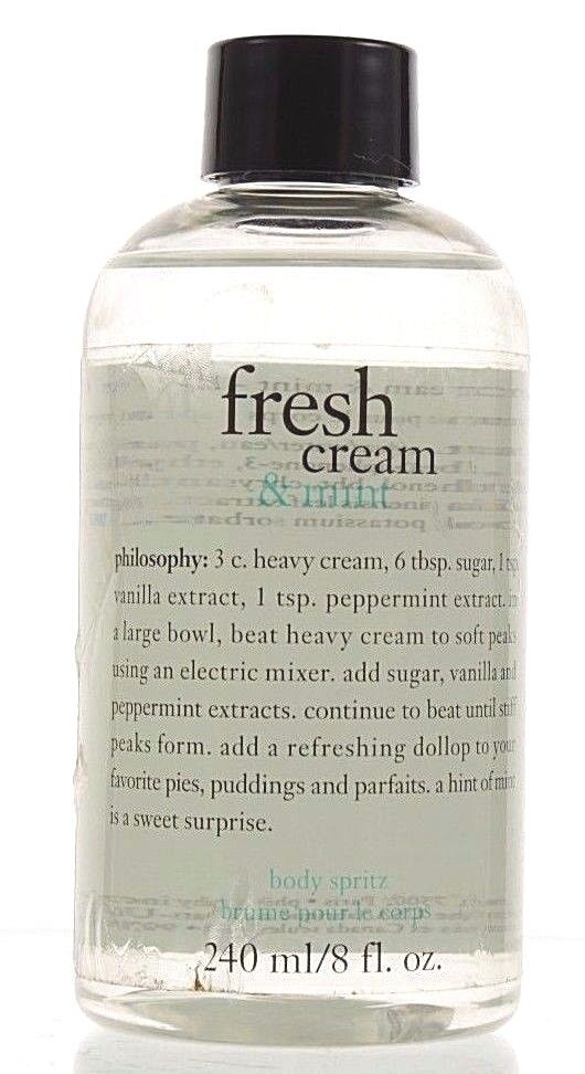 Philosophy Fresh Cream & Mint Body Spritz Spray NEW Sealed F
