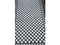 Victorian Black & White Chequer Tiles, c.2 sq m
