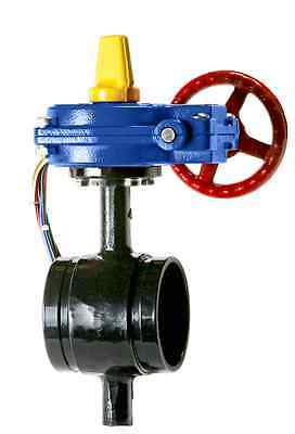 6 Butterfly Valve Grooved Ends With Tamper Switch 300 Psi Fire Protection Valve