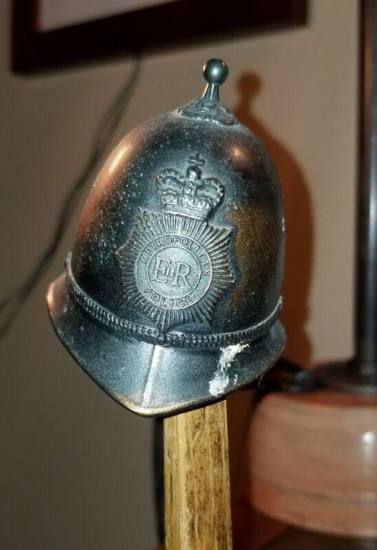 VINTAGE BELL BOBBIE LONDON METROPOLITAN POLICE HELMET H. SEENER ENGLAND