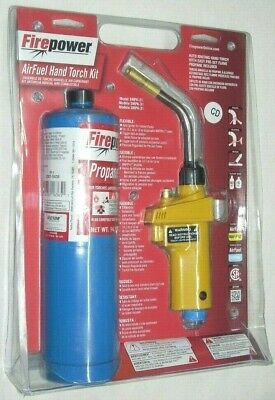 Victor Firepower 0387-0464 Air Fuel Auto Igniting Hand Torch Kit W Propane Tank