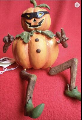 JWM Collection Halloween Pumpkin Man Shelf Sitter-Retired