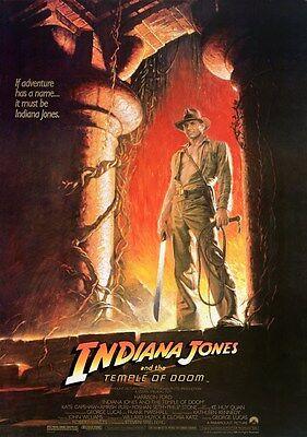 INDIANA JONES AND THE TEMPLE OF DOOM Movie Poster - Full Size Print - (Indiana Jones And The Temple Of Doom Full)