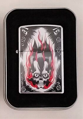 Zippo Lighter Gothic Skulls Tattoo American Tradition Soul Crusher 2008 New