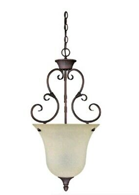 Capital Lighting 2 Light Mediterranean Bronze w/Mist Scavo Glass Pendant (Mediterranean Bronze 2 Light)
