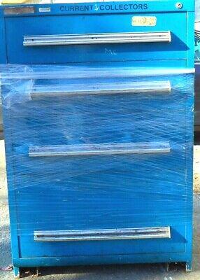 Blue Steel Modular Drawer Cabinet W4 Drawers 30-w X 28-d X 44-h