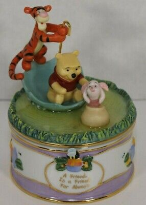 "Winnie the Pooh & Friends Porcelain Music Box - ""A Friend, Is A Friend For Alway"