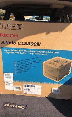 Ricoh Color Laser (New & Unopened!  Ricoh Aficio CL3500N Color Laser Printer)