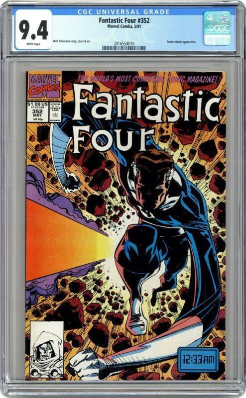 Fantastic Four #352 CGC 9.4 - 1st app of Minutemen, Loki Disney+ series