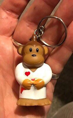 New American Heart Association Monkey Karate Keychain Collectible