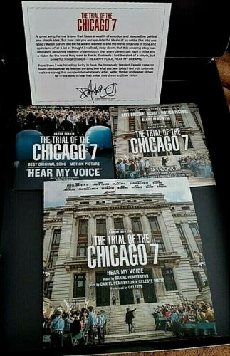 THE TRIAL OF THE CHICAGO 7 FYC Box Song CD+ Vinyl +Score CD +Sheet Music Signed