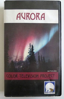 VHS Tape: Aurora Borealis Color Television Project - Alaska Northern Lights - Ntsc Projection Tv