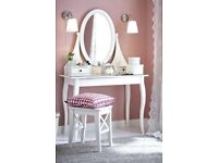 IKEA white dressing table and stool new