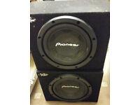 "2x 12"" Pioneer 1,000w subwoofers, subs, ICE, car audio, bass (Not JL Audio, MTX, Kicker, Alpine)"