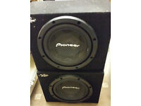 "2x 12"" Pioneer car subwoofers, subs, ICE, car audio, bass, system(Not JL Audio, MTX, Kicker, Alpine)"