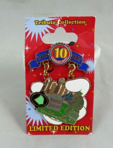 Disney Pin - 10th Anniversary Tribute - Piece of History 20,000 Haunted Mansion