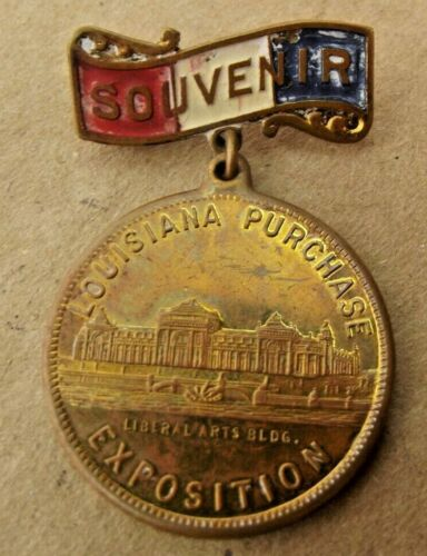 1903 Louisiana Purchase Exposition Liberal Arts Building St. Louis, MO Medallion