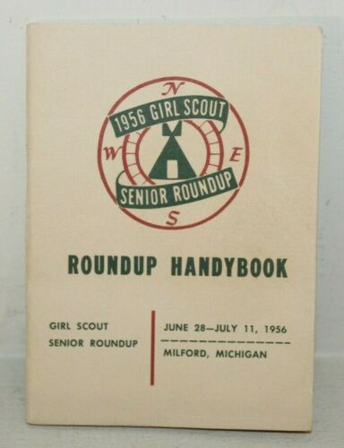 1956 GIRL SCOUT SENIOR ROUNDUP Handybook 99% New