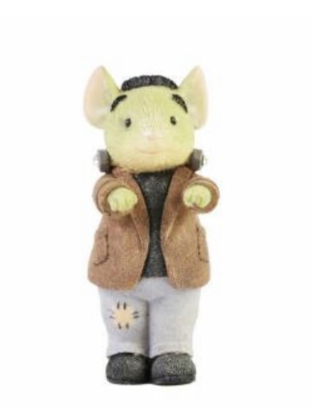 """Tails with Heart Halloween Franken Mouse Figurine 2""""H Enesco NIB 2021 New"""