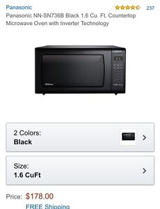 Panasonic Microwave oven with inverter power
