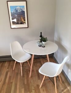 West Elm Style dining table set