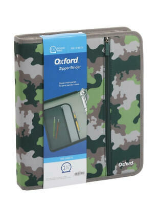 Zipper Note Book Binder Collegeschool 3 Rings 350 Sheets Oxford 13x11x2.5