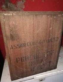 Vintage antique tea chests