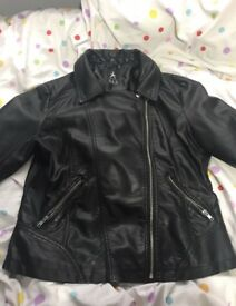 Leather jacket, size 14