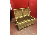 Whicker hamper basket chest storage basket kitsch chic