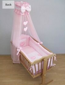 Crib bedding and canopy