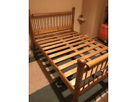 Lovely solid pine double bed only