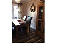 stunning oak furniture land mantis light 5ft x 2ft 6 dining table and 4 chairs