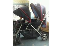 Double stroller for new born & toddler