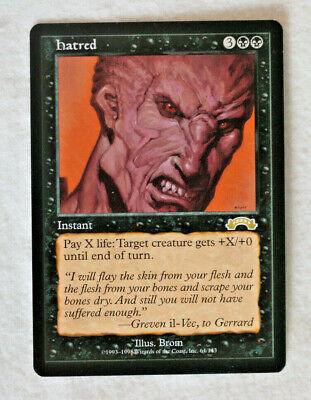 Hatred, Exodus, Near Mint/Unplayed Reserve List! Magic the Gathering MTG