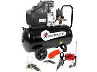 Portable 50L Litre Air Compressor Mobile 9.6CFM 2.5HP & 5 Piece Tool Kit