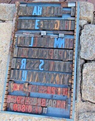 Large Antique Vintage Wood Letterpress Print Type Block A-z Letters S