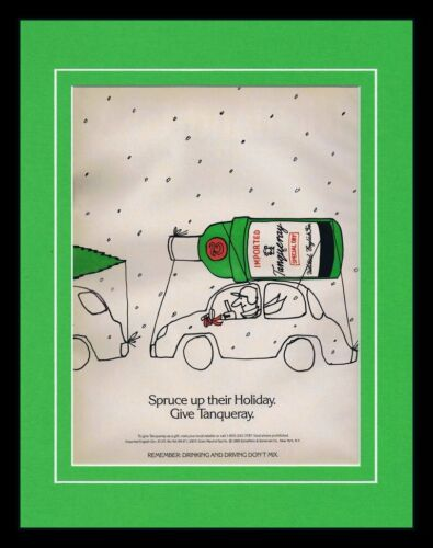 1989 Tanqueray Dry Gin 11x14 Framed ORIGINAL Vintage Advertisement