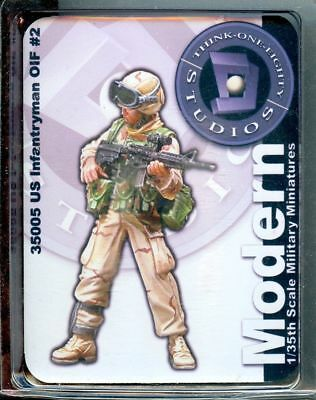 Think One Eighty Studios 1:35 US Infantryman OIF #2 Resin Figure Kit #35005