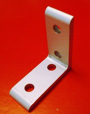 8020 Inc Equivalent Aluminum 4 Hole Inside Corner Bracket 10 Series Pn 4115 New